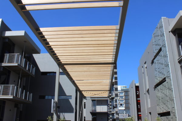 HQ Bedfordview pergola entrance to HQ