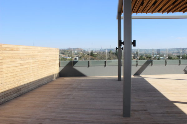 HQ Bedfordview rooftop decking pergola and cladding